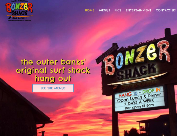 Bonzer Shack Outer Banks Restaurant Screenshot