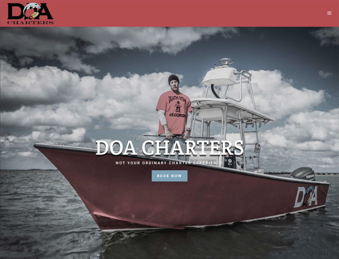 DOA Charters Outer Banks Internet Screengrab