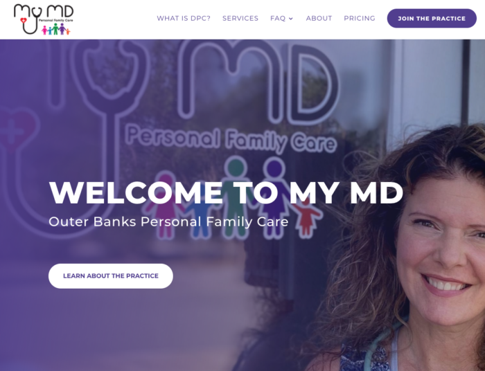 MyMD Personal Family Care website screenshot