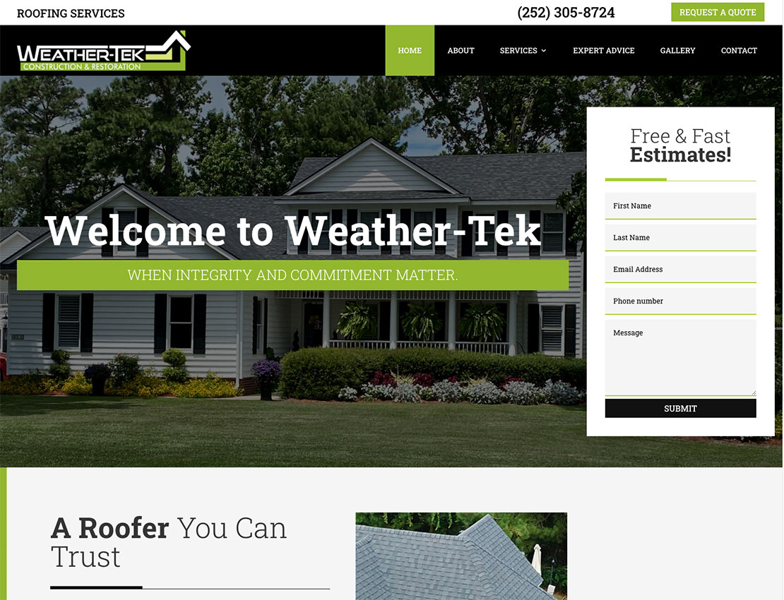 WeatherTek-Pro-Homepage-Screenshot