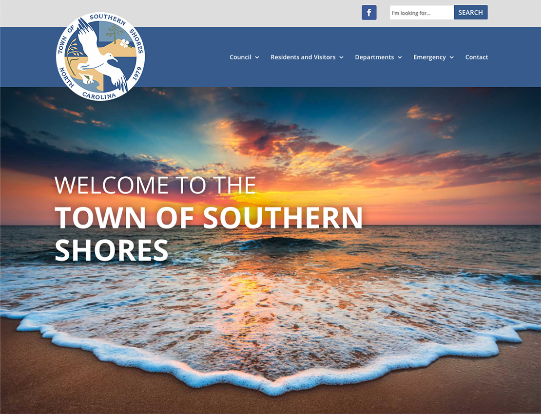 town of southern shores website screenshot